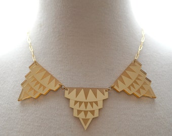 Empire State of Mind Necklace in Gold Mirror