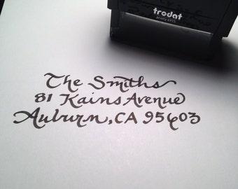 Self inking return address stamp