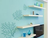 Coral Stencil - Large - Stencils even better than wall decals - DIY decor