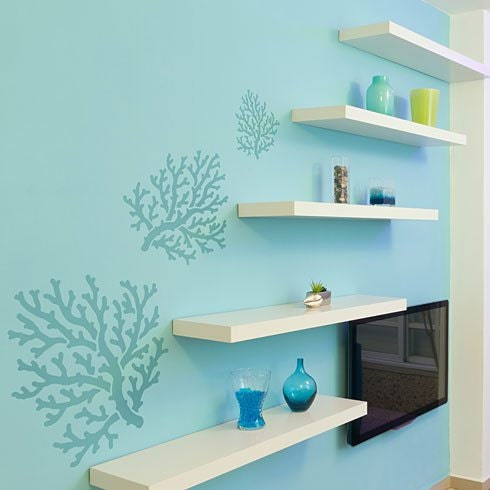Coral Stencil Stencils even better than wall decals