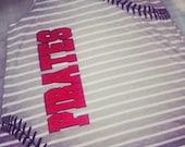 Custom baseball stitches shirt. Stripped tank baseball shirt. Baseball mom shirt. Custom baseball team tank top.