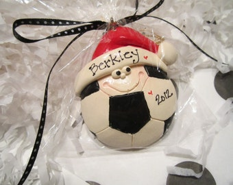 soccer ball /team sports /personalized Christmas ornament/soccer