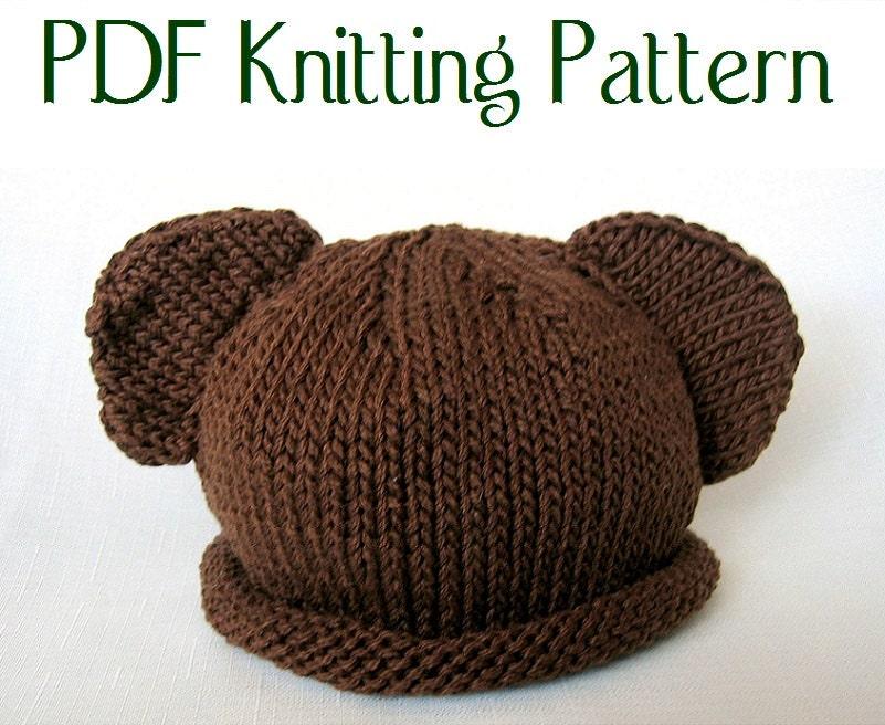 Bear Hat Knitting Pattern : Baby Bear Hat pattern knit Boston Beanies