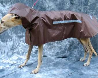 Greyhound Raincoat, brown, medium, female