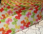"3 yards 7/8"" BUTTERFLY Tons of COLORS Grosgrain Ribbon sold by the yard"