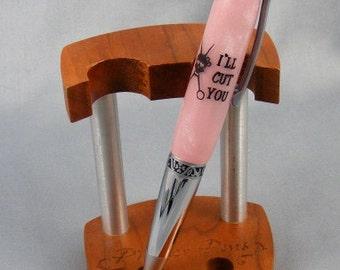 Hand Cast Pink Hair Stylist Twist Pen
