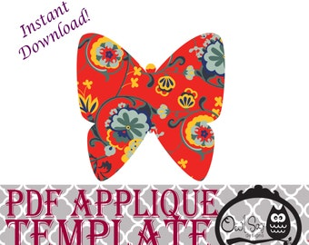 Applique Template - Butterfly 1