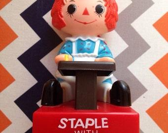 "1975 ""Staple With Raggedy Ann"" Novelty Stapler"