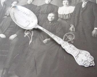 Vintage New York Niagara Falls Spoon Souvenir, Silverplate by Paye & Baker