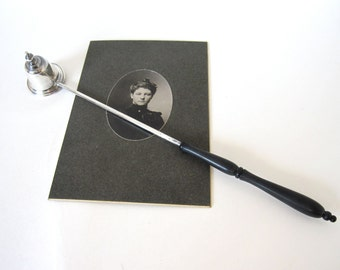 Vintage Sterling Silver Candle Snuffer by Gorham 760, Wood Handle