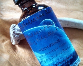 Moondance - Connecting to the Divine Feminine - 2oz - Spirit Medicine Essence. Flower Essence, Crystal Essence, Herbal Remedy, Bath & Beauty