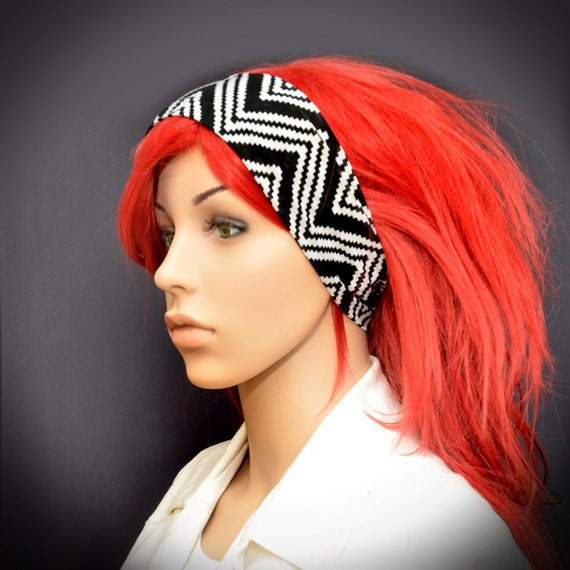 how to wear a zig zag headband