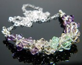 "Virgo Zodiac Lucky Colors Swarovski Crystal Necklace Beadweaving Sterling Silver - ""The Maiden"""