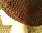 Women's Beret - Women's Crocheted Hat - Chocolate Brown Beret -  Adult Winter Tam