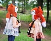 Moxie or Roxy Red Forest Foxes MADE to ORDER Handmade Crochet Hat