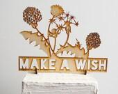 Make A Wish Birthday Cake Topper