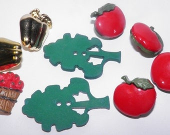 ON SALE  Apple Orchard Buttons