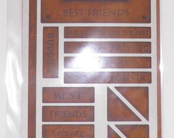ON SALE  Friends Leather Accent Stickers
