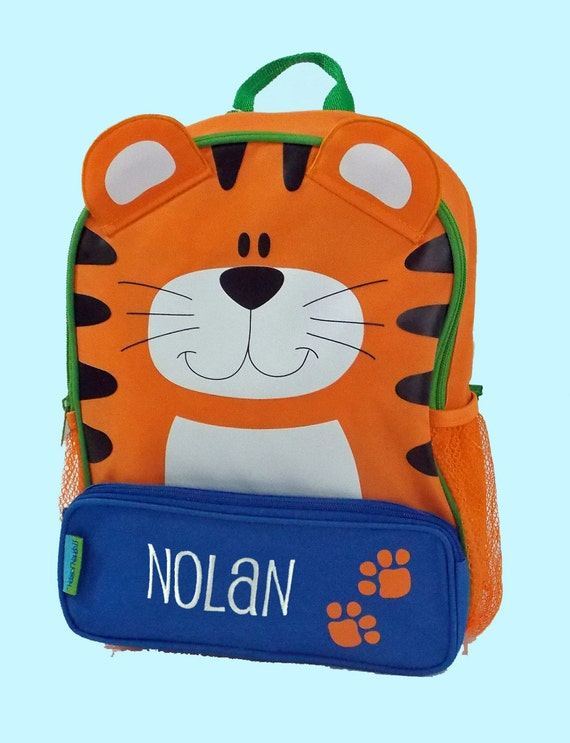 Personalized Stephen Joseph Sidekicks Backpack TIGER Themed