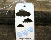 Welcome Baby Tag, Baby Shower, Congratulations, Baby Boy, Gift Tag