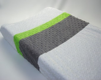 Changing Pad Cover Color Block White Gray Green