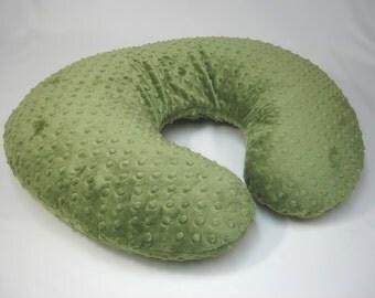 Green Boppy Pillow Cover Nursing Pillow Forest