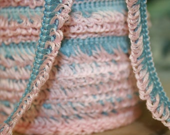 Vintage Pink and Blue Fringe