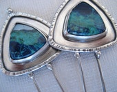 alainn sterling silver & quattro quantum silica earrings