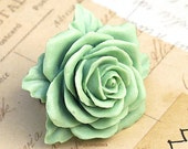 Mint Rose Ring. Heritage Green Rose Ring. Mint Dreams. Vintage Style Jewelry