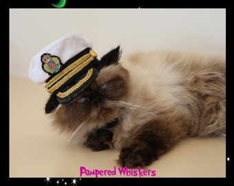 Commanding Officer Naval hat for dogs and cats
