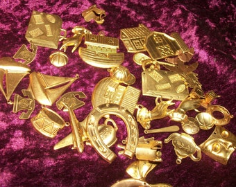 Brass Mix Metal stampings Charms