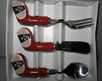A  set of 3 Golf Spoon, Knife, Fork for  Butter ~ Cheese ~ Jam Spreader ~ Item 53