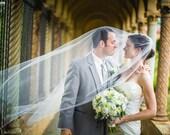 Single layer floor lenth  wedding veil white, diamond or ivory