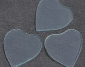 2 pairs of (small) heart-shaped hand-cut glass