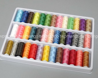 1 Set of 39 Spools Polyester Sewing Thread N109