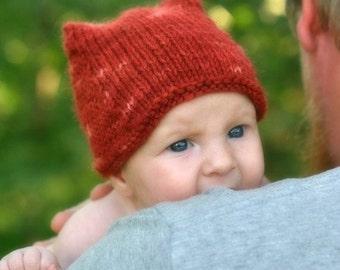 Knitting Pattern - Fox Hat - (Baby, Toddler, Child) - Knit Hat - Beanie - Pixie - Knitting Pattern Hat - Baby Hat - Newborn hat - Knitted