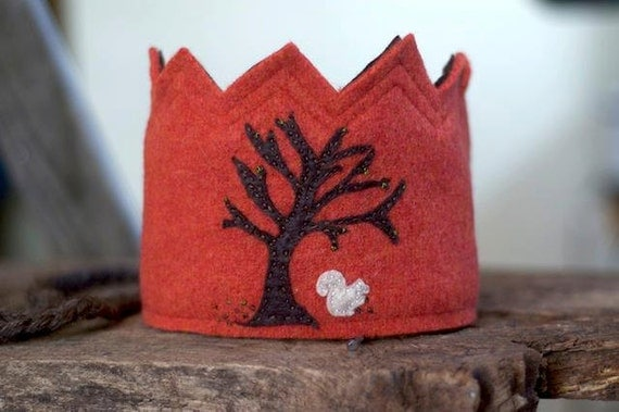 Waldorf Birthday Crown for Children in Hand Dyed Felted Wool - Custom Made and OOAK