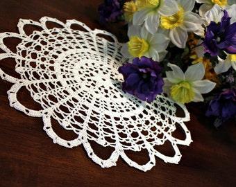 Web crochet doily