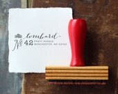 Custom Return Address Stamp // MANCHESTER // typeset
