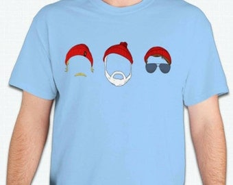 The Life Aquatic Tee T Shirt Steve Zissou Faces Wes Anderson