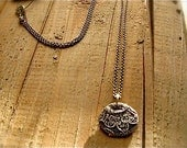 silver lace necklace : rustic jewelry - handcrafted silver