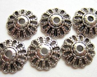 30 Bead caps Tibetan antique silver metal 12mm x 3mm  Diy jewelry  supplies flower shape jewelry finding 1413Y(U5)