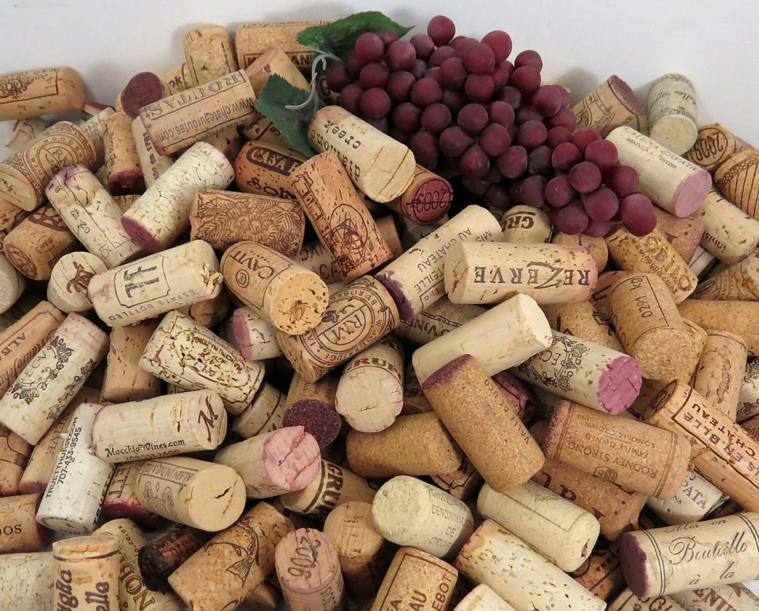 50 used wine corks all natural excellent by goldenvinedesigns for Natural corks