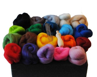 Heidifeathers Starter Needle Felting Kit - with Handle