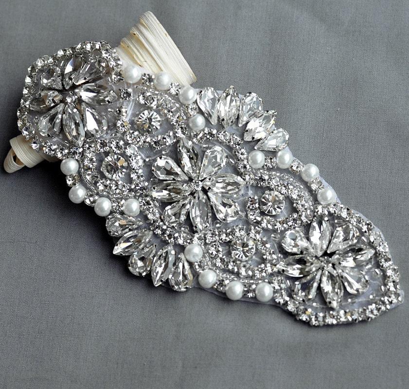 Rhinestone Applique Wedding Gowns