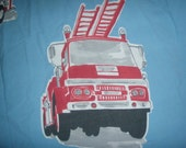 The Company Store Fire Truck Themed TWIN FITTED Sheet