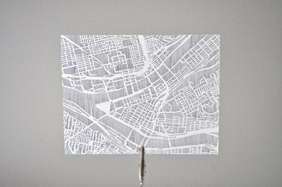 pittsburgh / philadelphia / dc / des moines city notecards