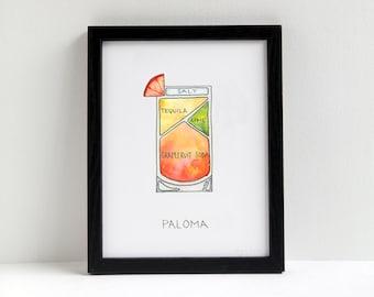 Paloma Cocktail Diagram
