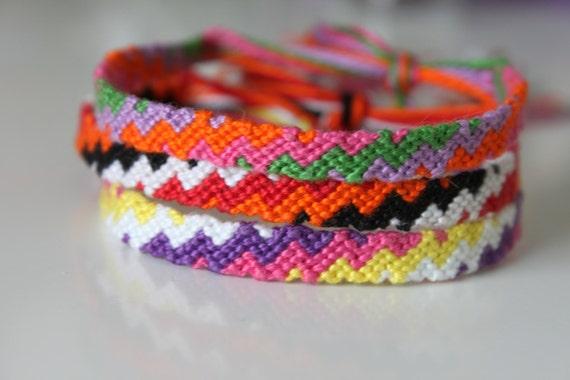 items similar to zig zag friendship bracelet on etsy