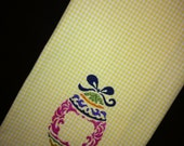 Yellow Gingham Easter Egg Kitchen Towel